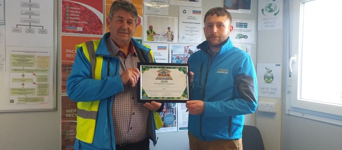 Sustainability Award for Woodhead Construction PEMC Project Team